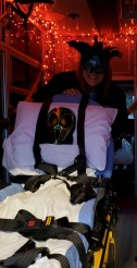 Mobile Life EMT Gia Adamis celebrates last year's Halloween season in her haunted ambulance